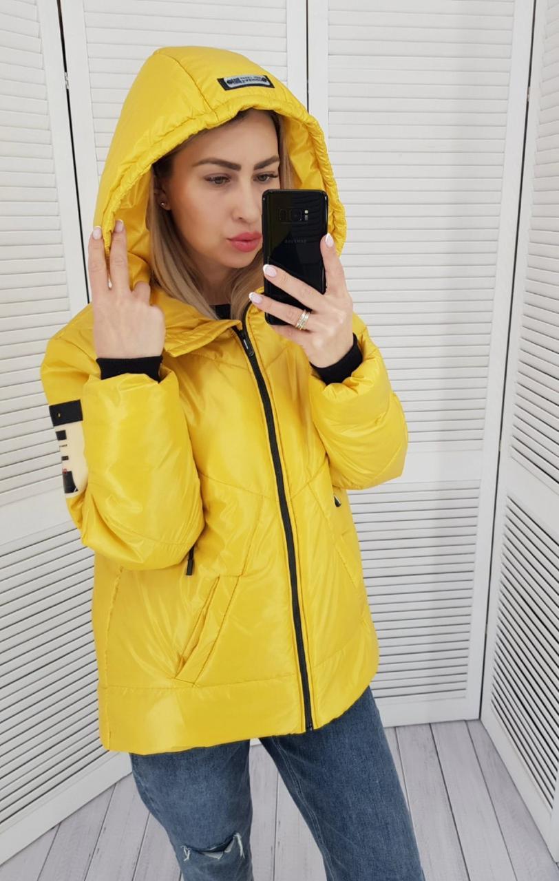 Куртка женская практичная модель, арт 417, цвет желтый
