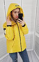 Куртка женская практичная модель, арт 417, цвет желтый, фото 1
