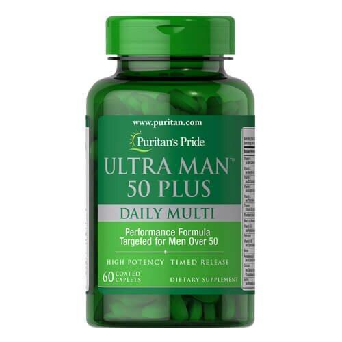 Витаминно-минеральный комплекс 50+ ,Puritan's Pride Ultra Man 50 Plus 60 таб