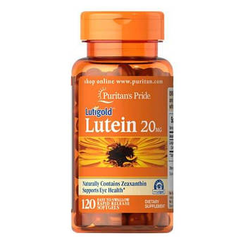 Puritan'sPride Lutein 20 mg with Zeaxanthin 120 капсул