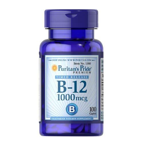 Витамин B12, Puritan's Pride Vitamin B-12 1000 mcg 100 таб