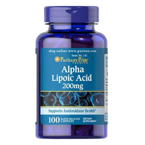 Puritan's Pride Alpha Lipoic Acid 200 mg 100 капсул