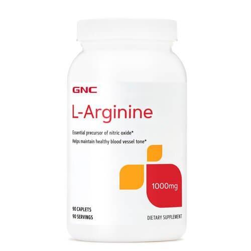 Аргинин, GNC L-Arginine 1000 mg 90 таб