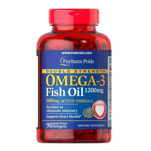 Омега 3, Puritan's Pride Double Strength Omega-3 Fish Oil 90 капсул