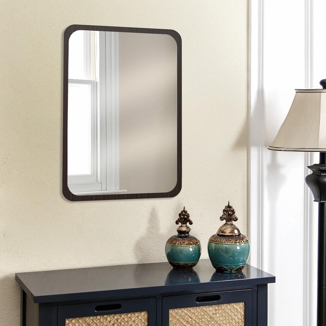 Зеркало на стену в цвете венге магия 700х500 мм