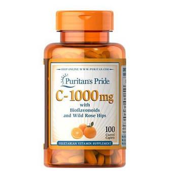 Витамин Сс биофлавоноидами, Puritan's Pride Vitamin C-1000 mg with Bioflavonoids & Rose Hips 100 таб