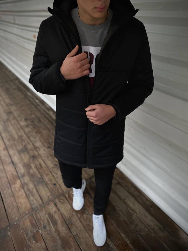 """Демисезонная Куртка """"Fusion"""" бренда Intruder (черная), фото 2"""