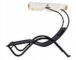 Шезлонг-лежак двухместный садовый Goodhome черный, фото 2