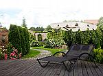 Шезлонг-лежак двухместный садовый Goodhome черный, фото 6