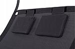 Шезлонг-лежак двухместный садовый Goodhome черный, фото 4
