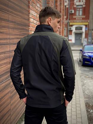 Мужская весенняя куртка хаки-черная Intruder SoftShell Lite 'iForce', фото 3