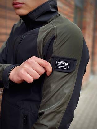 Мужская весенняя куртка хаки-черная Intruder SoftShell Lite 'iForce', фото 2