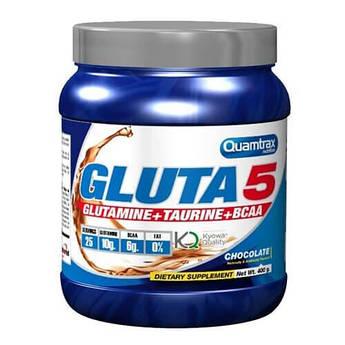 L-глютамин, BCAA и таурин, Quamtrax Gluta 5 400 грамм