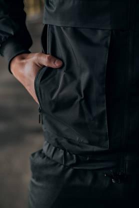 """Чоловіча весняна куртка, вітровка чорна Intruder """"Sprinter"""", фото 3"""