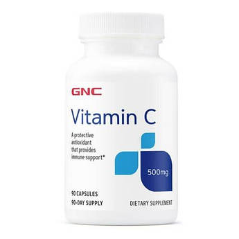Витамин Ц, GNC Vitamin C 500mg 90 капсул