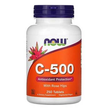 Витамин С, NOW Vitamin C-500 250 таб