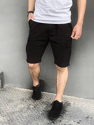 """Футболка """"Color Stripe"""" серая - черная + Шорты Miami Черные Intruder. Комплект летний мужской, фото 3"""