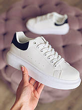 Білі кросівки в стилі Alexander McQueen жіночі