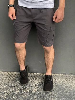 """Футболка """"Color Stripe"""" серая - черная + Шорты Miami серые Intruder. Комплект летний мужской, фото 3"""