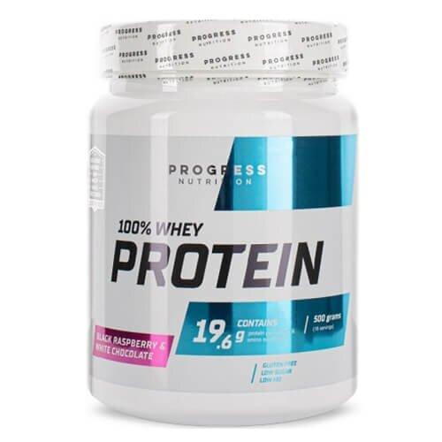 Progress Nutrition Whey Protein 500 грамм, Клубника