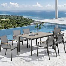 Обеденный комплект садовой мебели Rona из стола 160*90*75 и 6 кресел