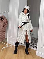 Стильне жіноче пальто, стьобана, чорне, 913-026-5