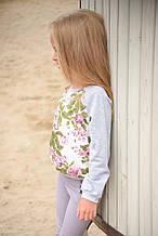 Детский батник реглан джемпер для девочек 8-10 лет 128-134 см