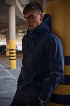 Куртка анорак чоловіча осіння синя Softshell Walkman демісезонна весняна Intruder+Ключниця в подарунок, фото 2