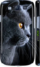 "Чохол на Galaxy S3 Duos I9300i Красивий кіт ""3038c-50-2448"""
