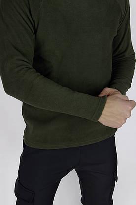 Чоловічий світшот флісовий хакі Intruder, фото 2