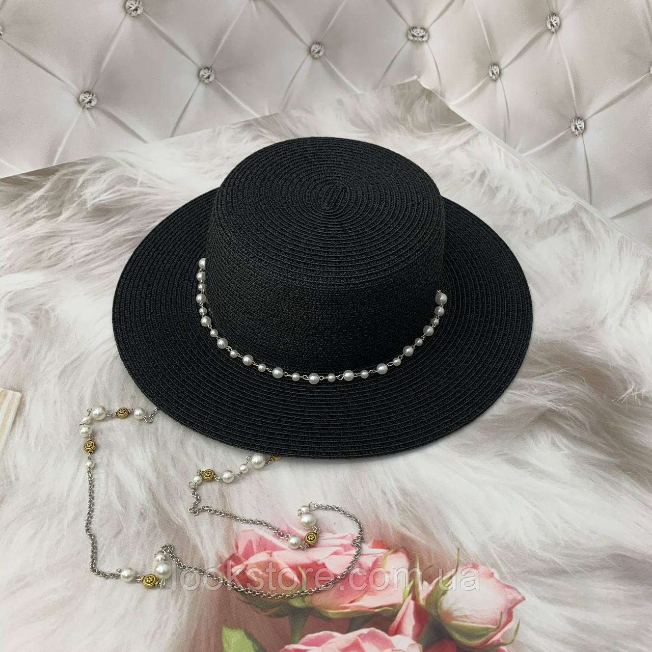 Капелюх жіночий річна канотьє в стилі Maison Michel рожева (пудра)