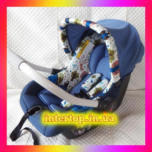 Дитяче автокрісло-бебикокон, автолюлька для новонароджених група 0+ (0-13кг) El Camino Newborn.
