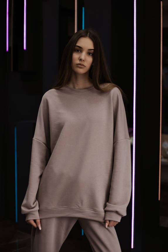 Худі Жіноче вкорочене Intruder Brand бузковий, фіолетовий, фото 2