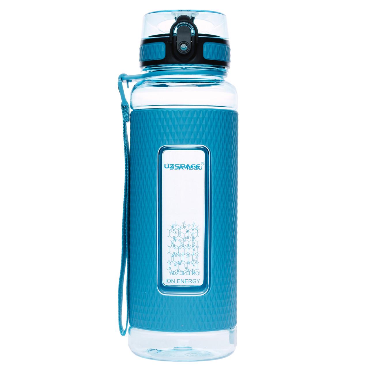 Фляга для води 950 мл Uzspace Diamond блакитна (серія 5046)