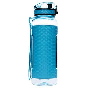 Фляга для води 950 мл Uzspace Diamond блакитна (серія 5046), фото 2