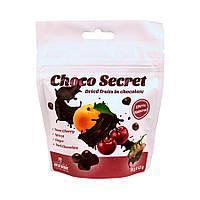 Конфеты из сухофруктов в шоколаде Choco Secret. Черешня во фруктовой оболочке с имбирем, 50 г