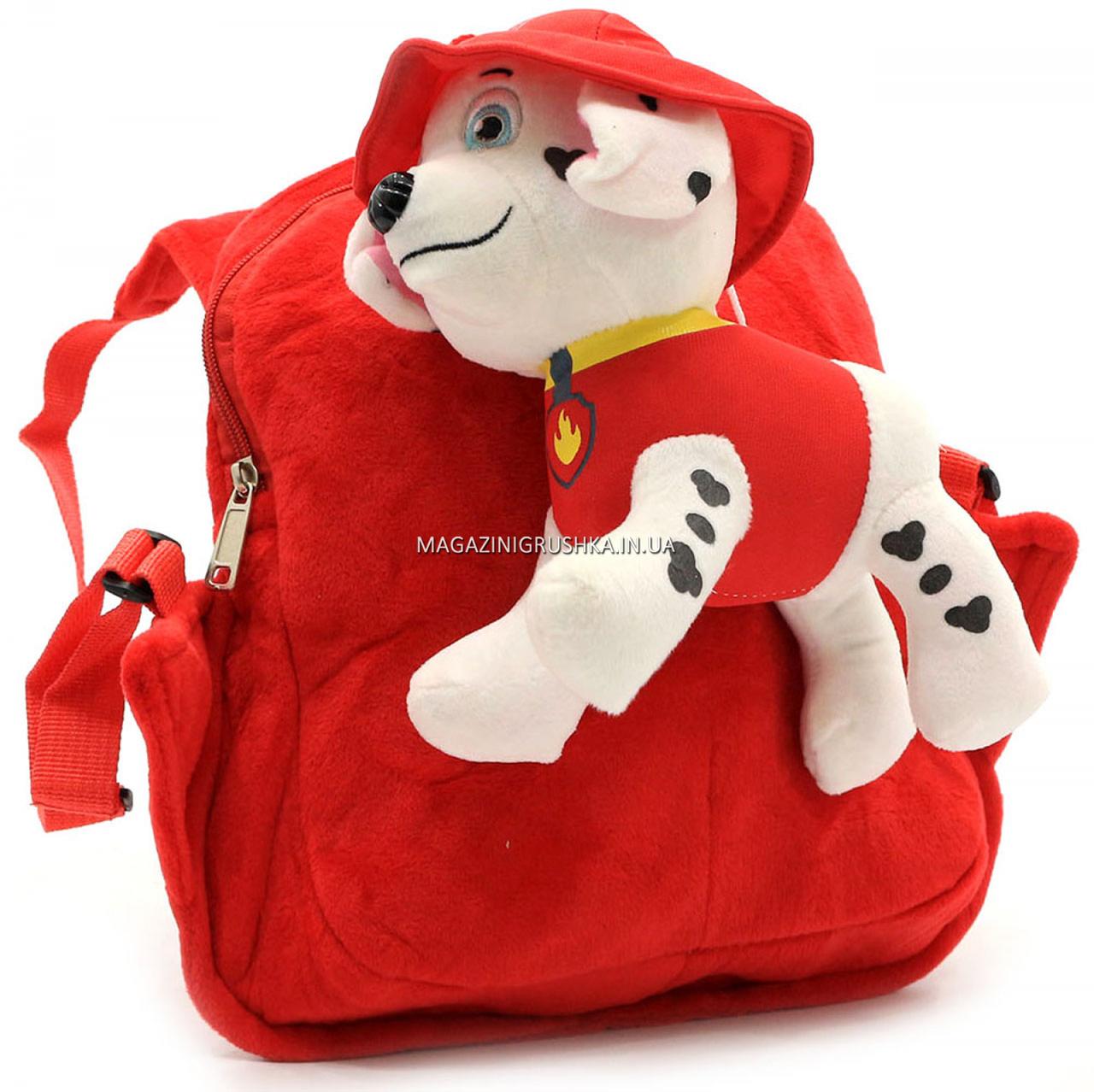 Рюкзак с игрушкой Kinder Toys «Щенячий патруль» Маршал 30х10х20 см (24748-1)