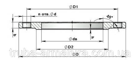 Фланець сталевий плоский приварний Ру 10 Ду 400, фото 2