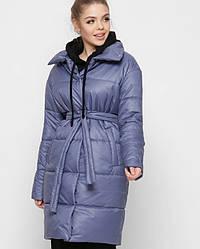 Актуальная удлиненная куртка цвета джинс X-Woyz LS-8890