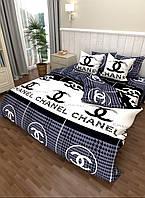 Постельное белье Евро размера из логотипом бренда
