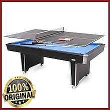 Бильярдный стол с теннисной крышкой, сеткой и аксессуарами Phoenix 7 футов из ЛМДФ
