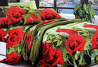 """Постельное белье Евро размера """"София"""" красные розы"""