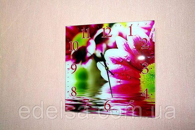 Часы на стекле квадратные 30*30см интерьерные сувенирные