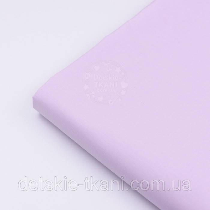 Лоскут сатина однотонного цвета светлой лаванды, №2789с, размер 42*80 см