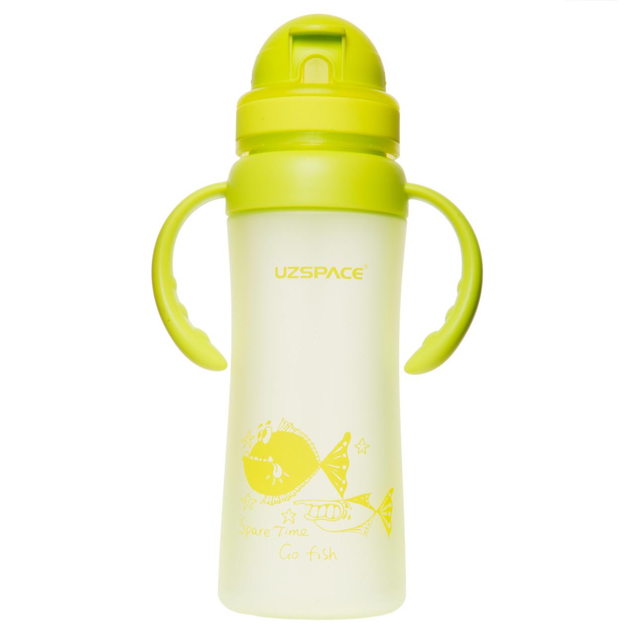 Дитяча пляшка для води 350 мл Uzspace Go Flash салатова (серія 3041)