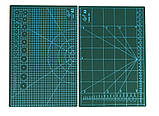 Коврик для раскроя кожи и ткани двухсторонний А3 297 x 420  цвет Ассорти, фото 3