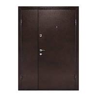 Двери полуторные (метал з двух сторон)