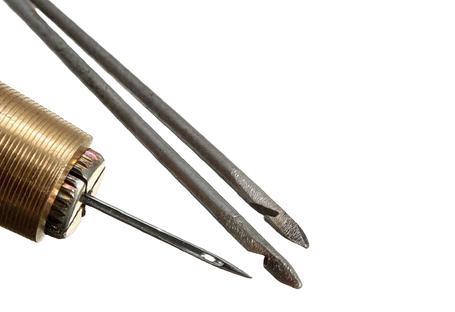 Цанговые ручки, крючки, шило