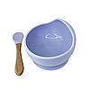 Силиконовая тарелка на присоске с ложкой (Лиловый)