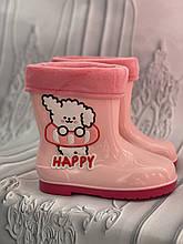 Резиновые сапоги розового цвета для девочки